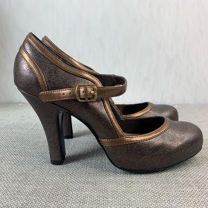 Ellemenno high heels oxford pumps round toe